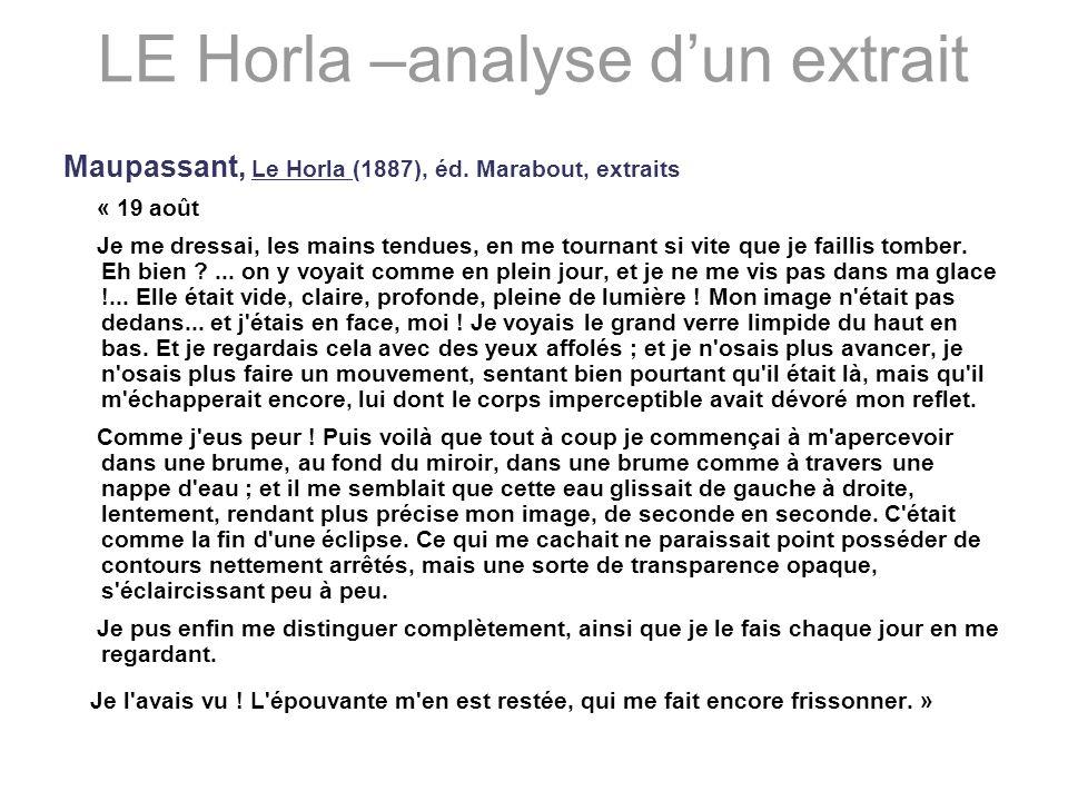 LE Horla –analyse d'un extrait