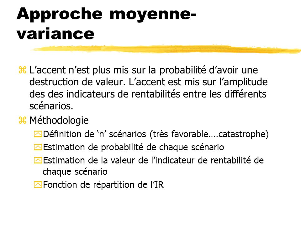 Approche moyenne-variance