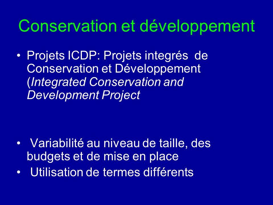Conservation et développement
