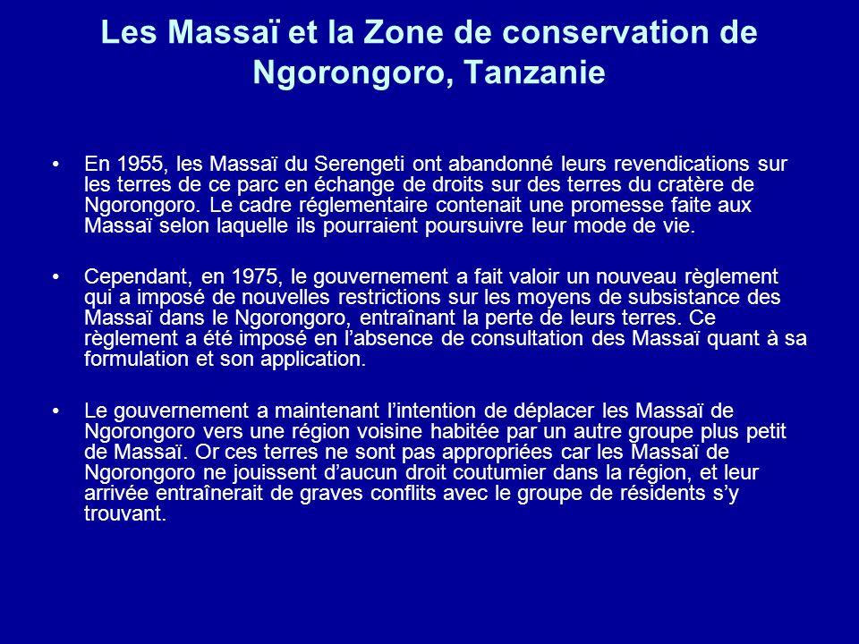 Les Massaï et la Zone de conservation de Ngorongoro, Tanzanie