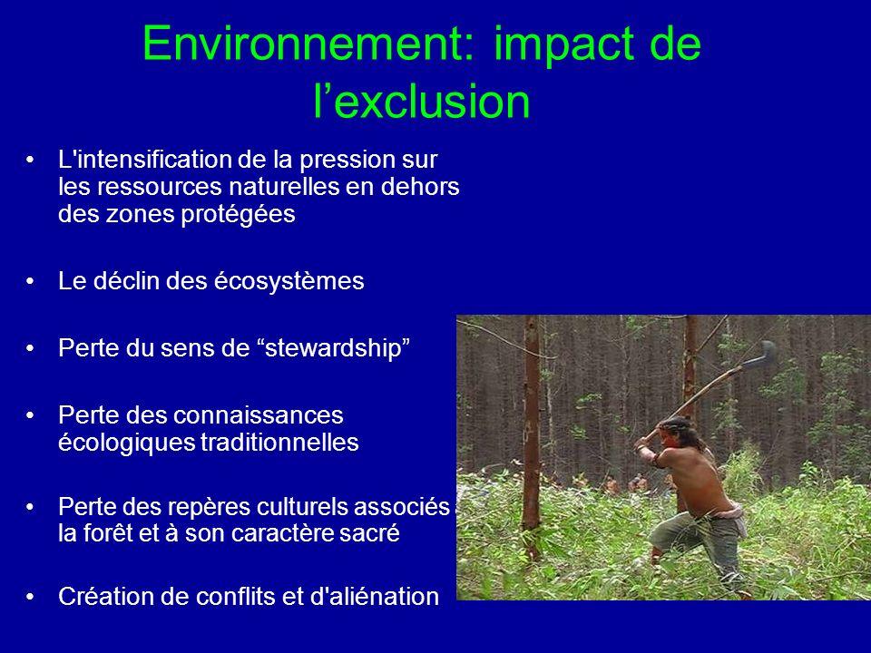 Environnement: impact de l'exclusion
