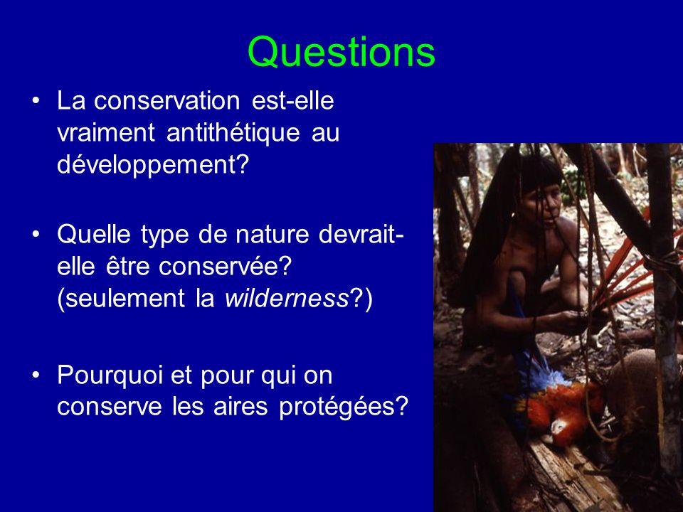 Questions La conservation est-elle vraiment antithétique au développement