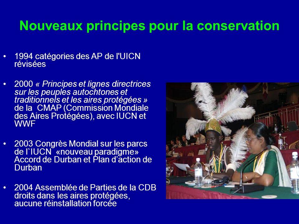 Nouveaux principes pour la conservation