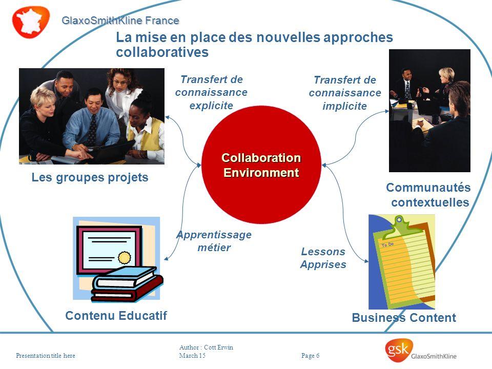 La mise en place des nouvelles approches collaboratives