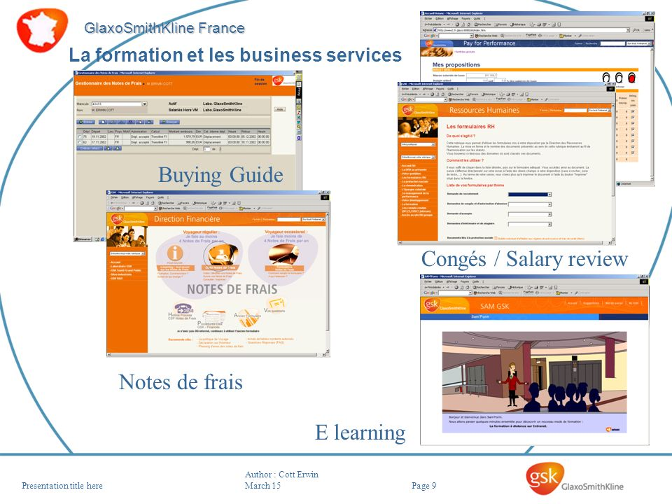 Buying Guide Congés / Salary review Notes de frais E learning