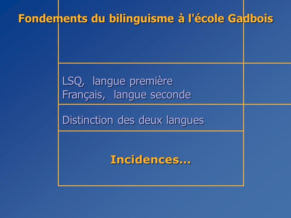 Fondements du bilinguisme à l école Gadbois