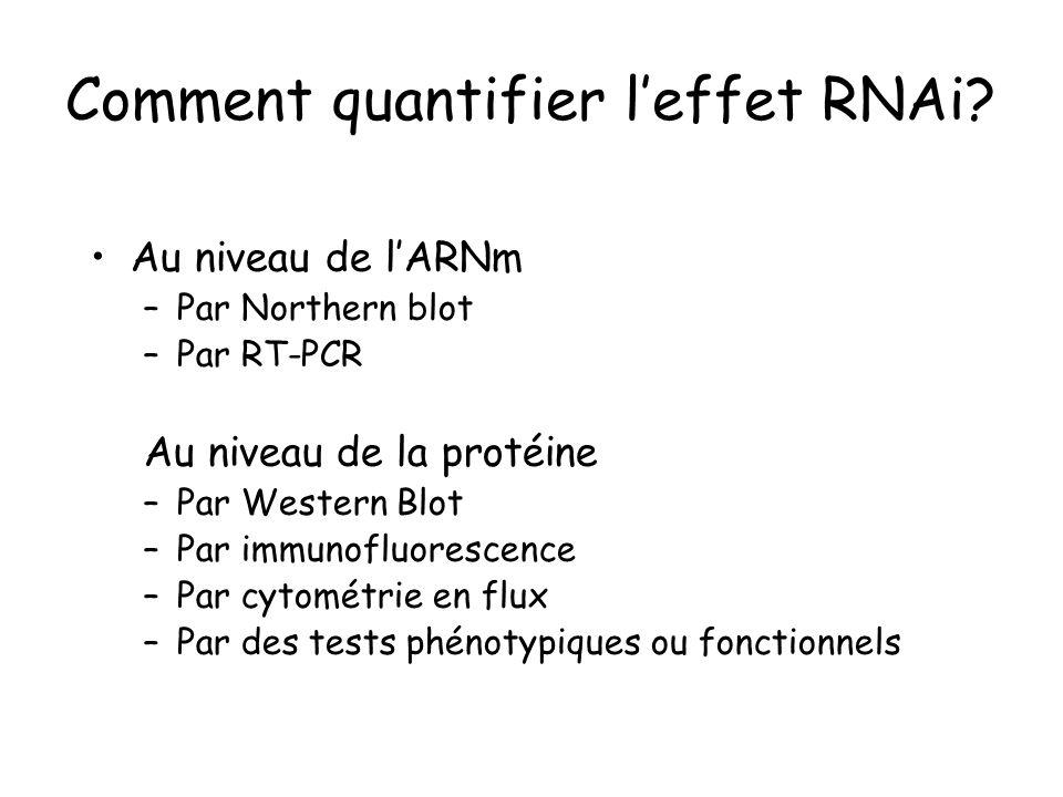 Comment quantifier l'effet RNAi