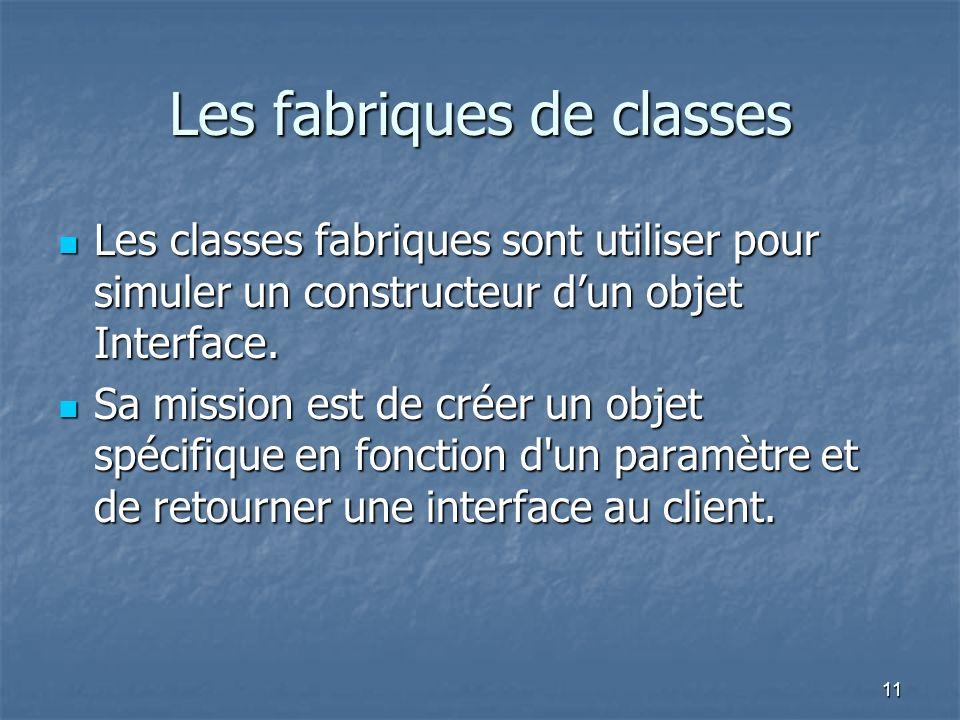 Les fabriques de classes