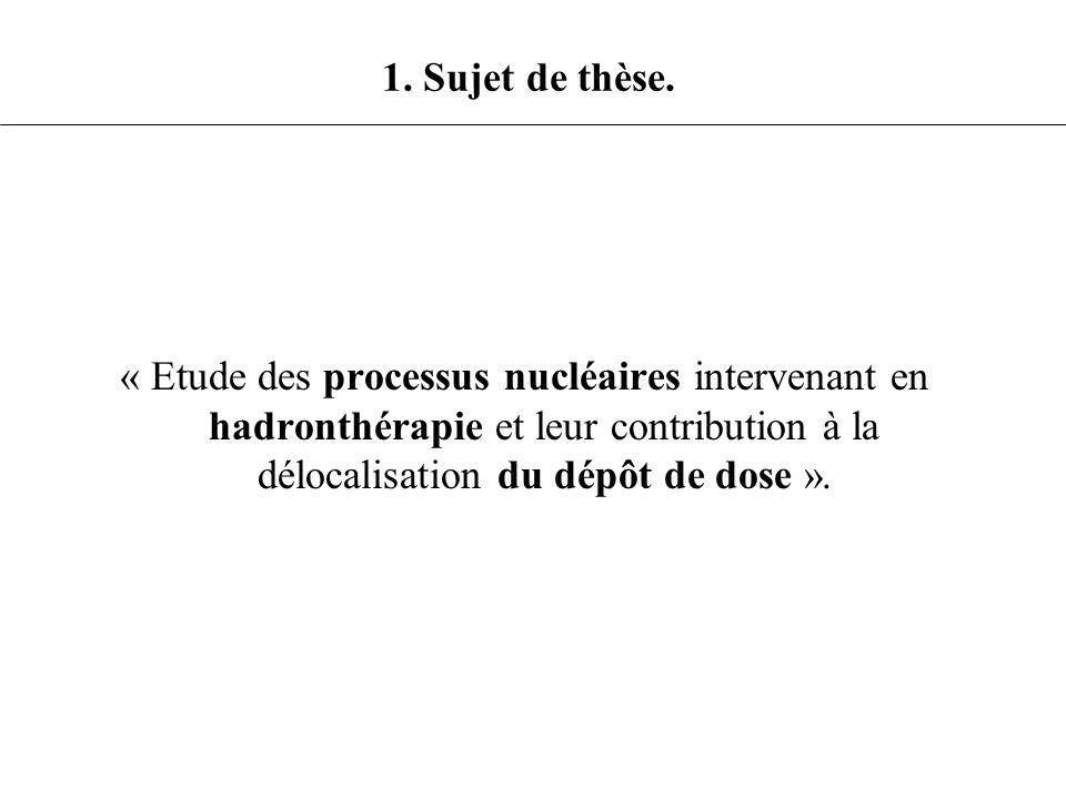 1. Sujet de thèse.