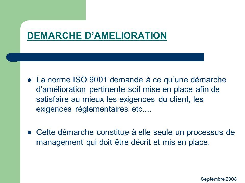 DEMARCHE D'AMELIORATION