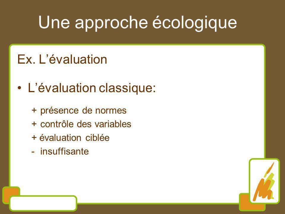 Une approche écologique