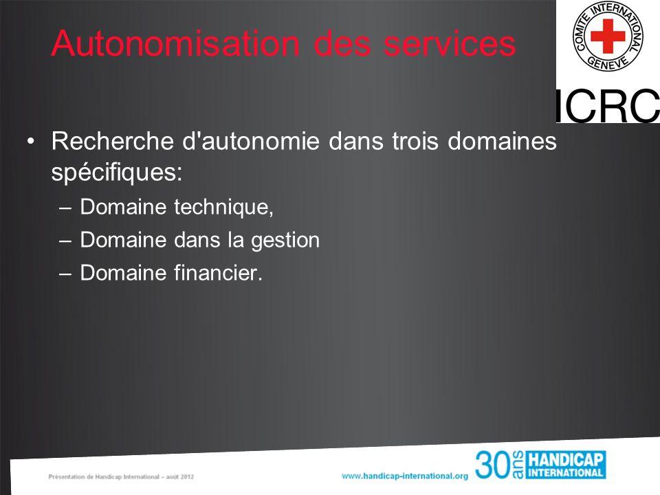 Autonomisation des services
