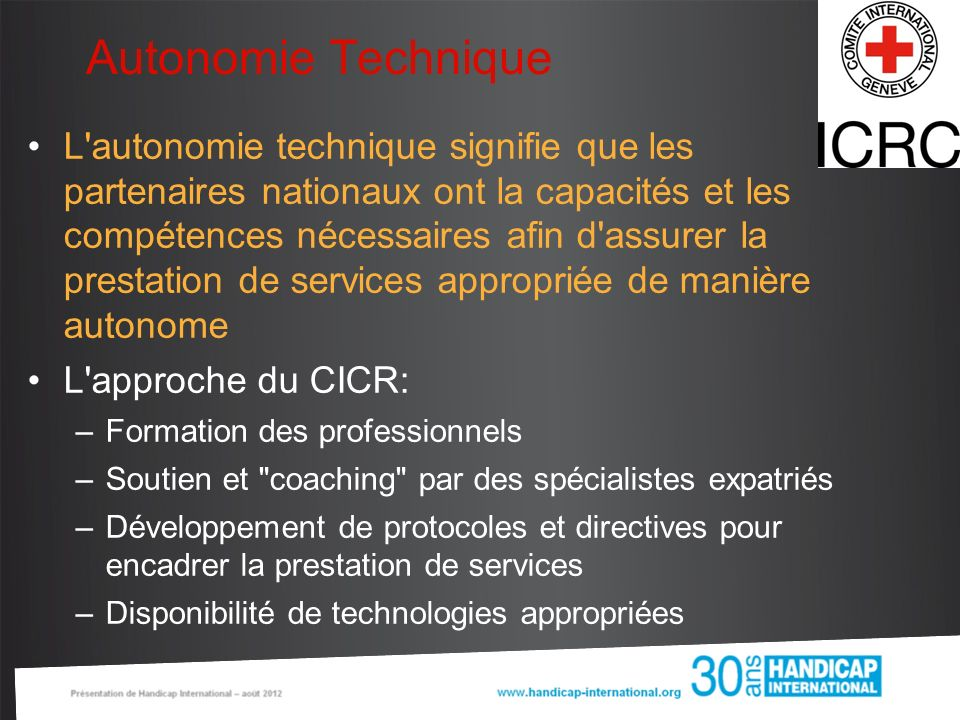 Autonomie Technique