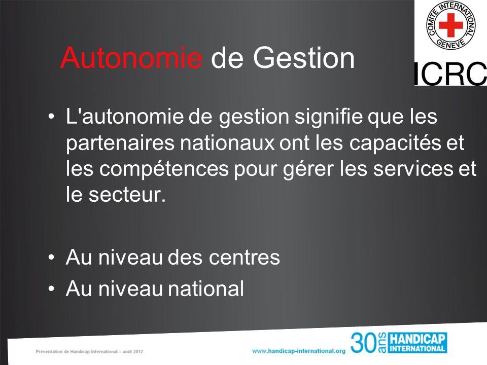 Autonomie de Gestion