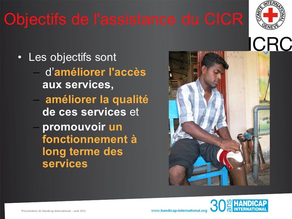 Objectifs de l assistance du CICR