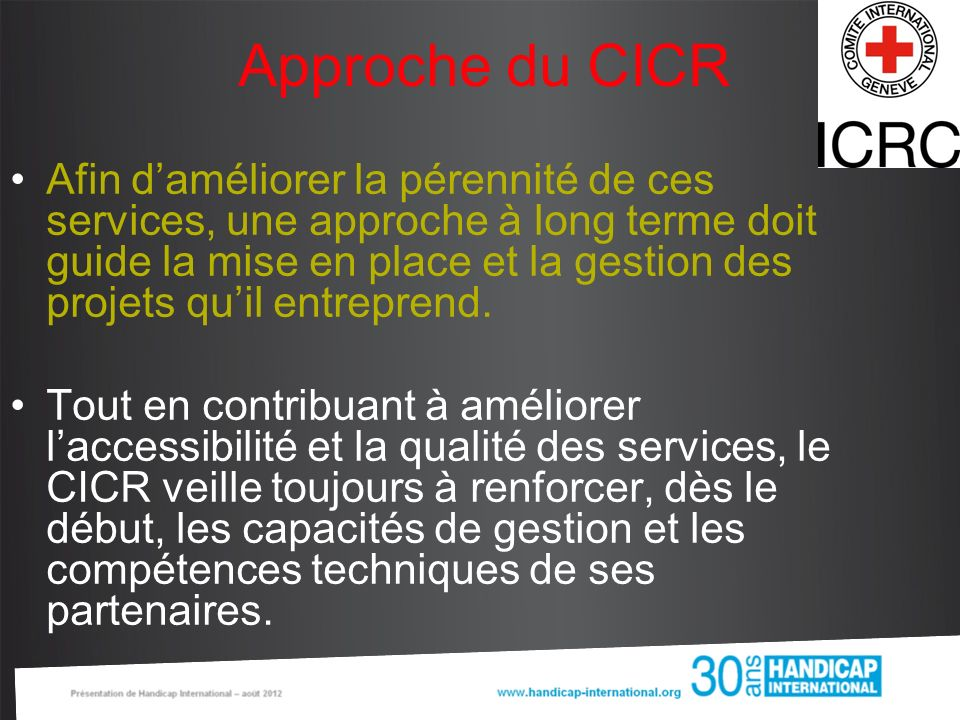 Approche du CICR