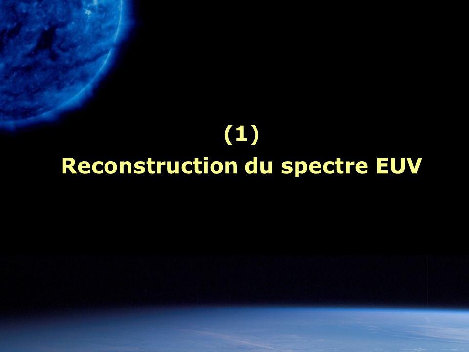(1) Reconstruction du spectre EUV