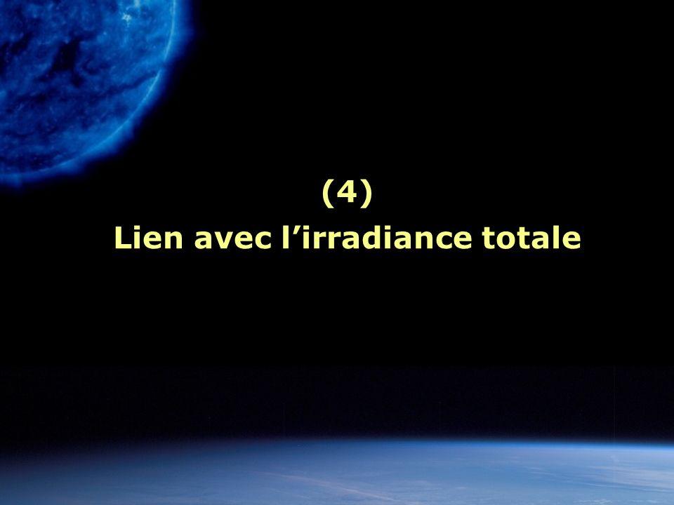(4) Lien avec l'irradiance totale
