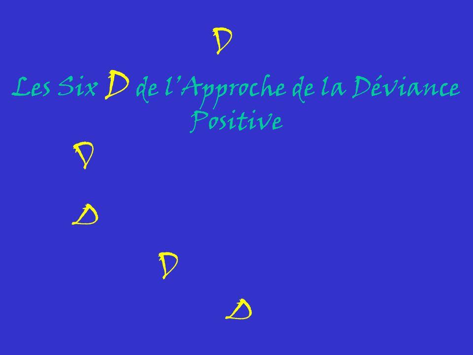 Les Six D de l'Approche de la Déviance Positive