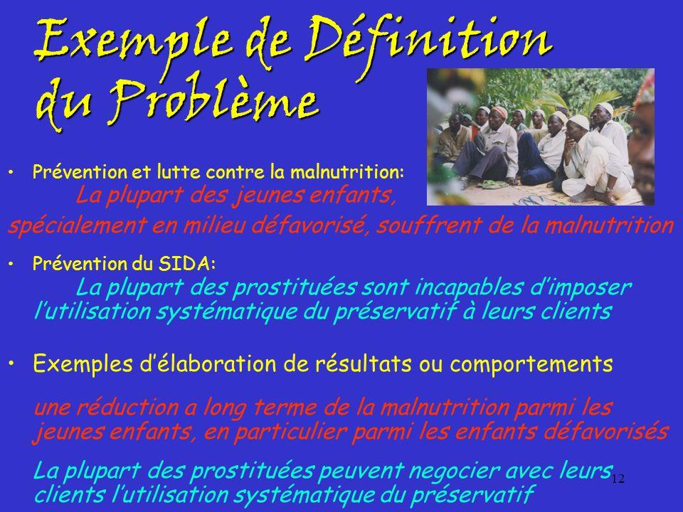 Exemple de Définition du Problème