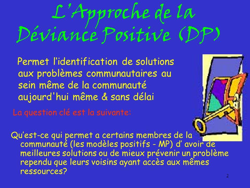 L'Approche de la Déviance Positive (DP)