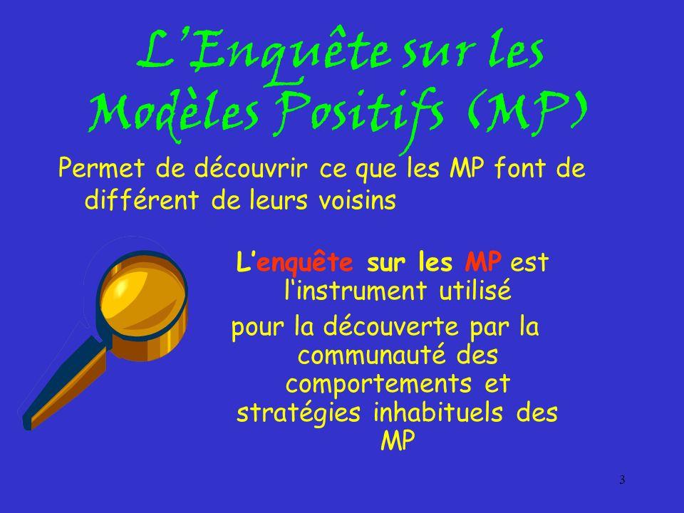 L'Enquête sur les Modèles Positifs (MP)