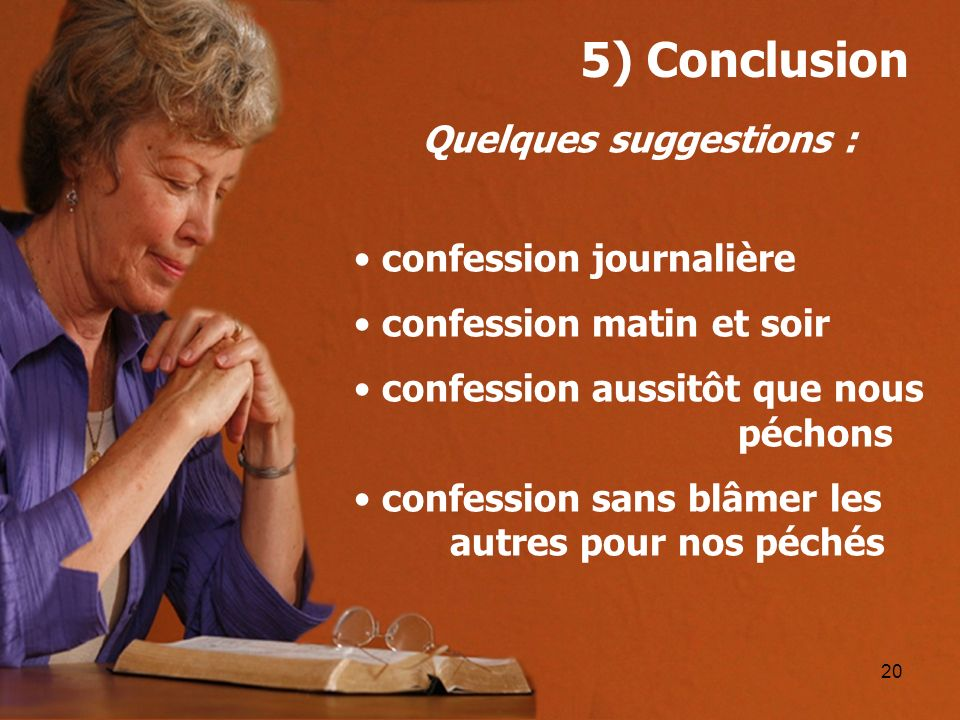 Quelques suggestions :