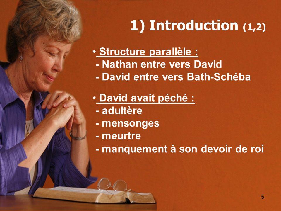 1) Introduction (1,2) Structure parallèle : - Nathan entre vers David