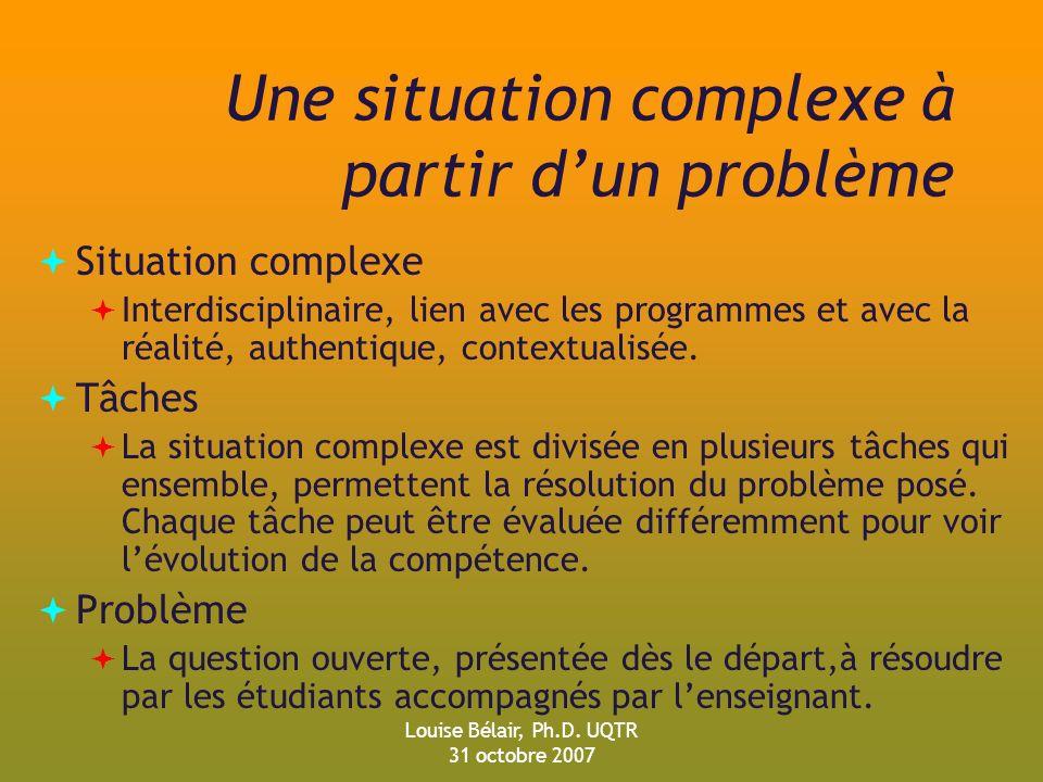 Une situation complexe à partir d'un problème