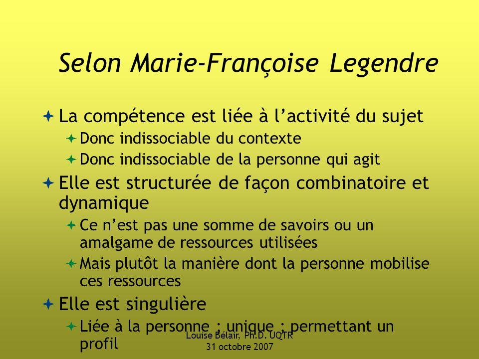 Selon Marie-Françoise Legendre