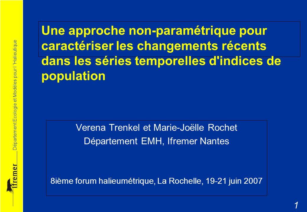 Une approche non-paramétrique pour caractériser les changements récents dans les séries temporelles d indices de population