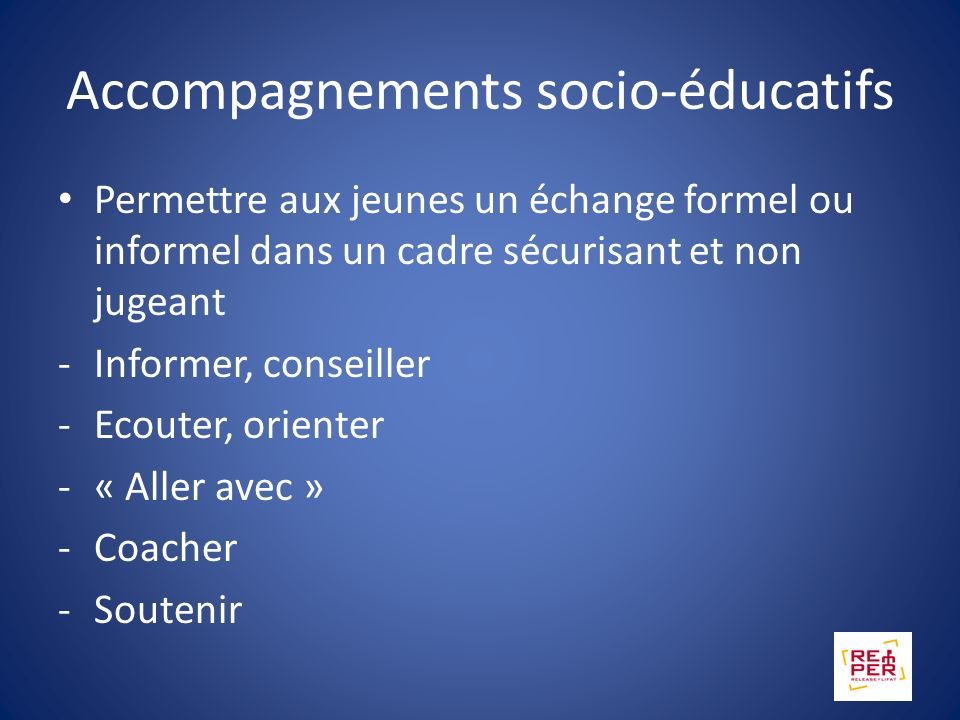Accompagnements socio-éducatifs