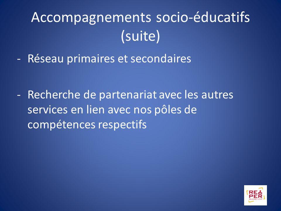 Accompagnements socio-éducatifs (suite)