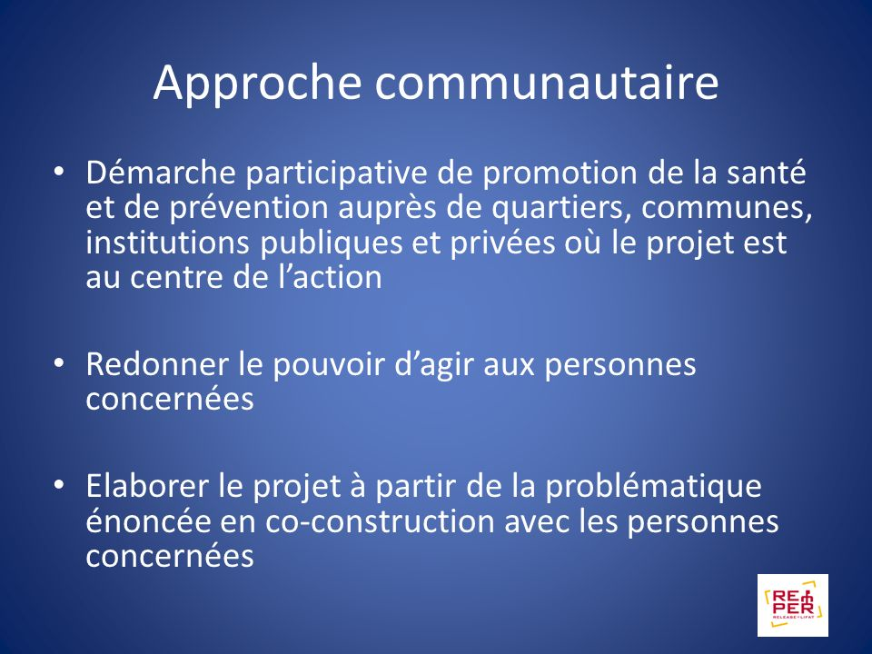 Approche communautaire