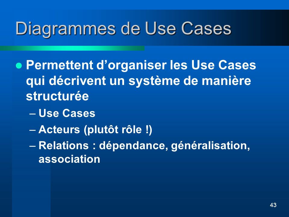 Diagrammes de Use Cases