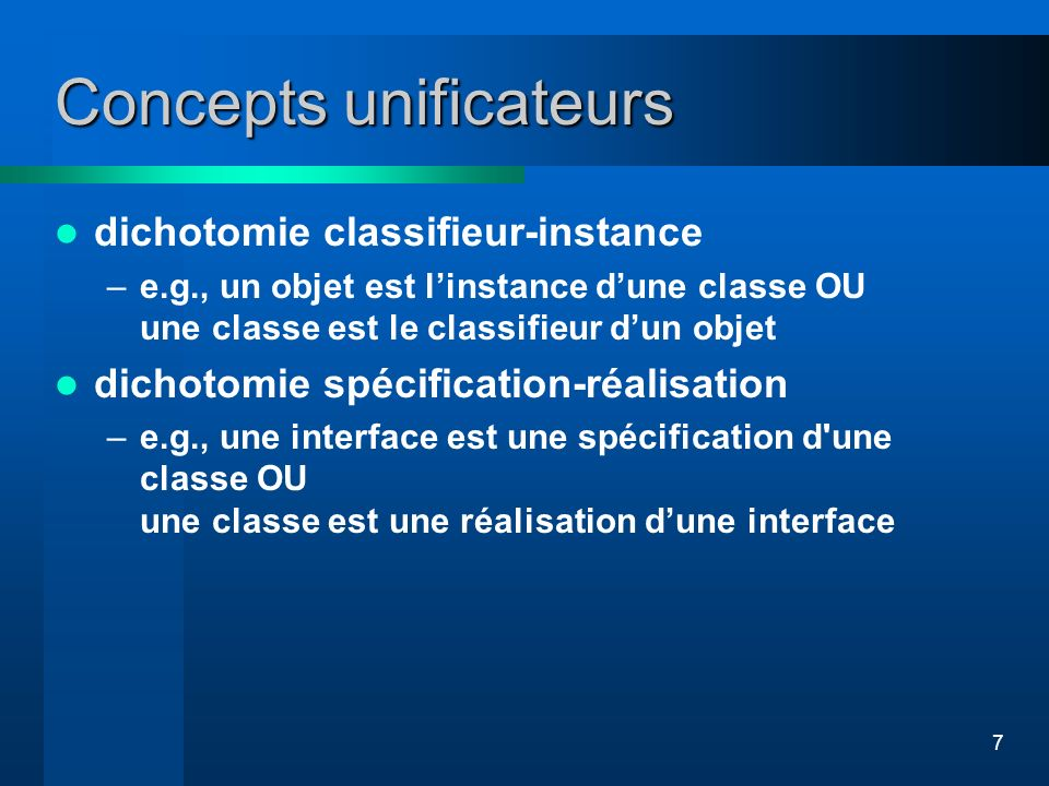 Concepts unificateurs