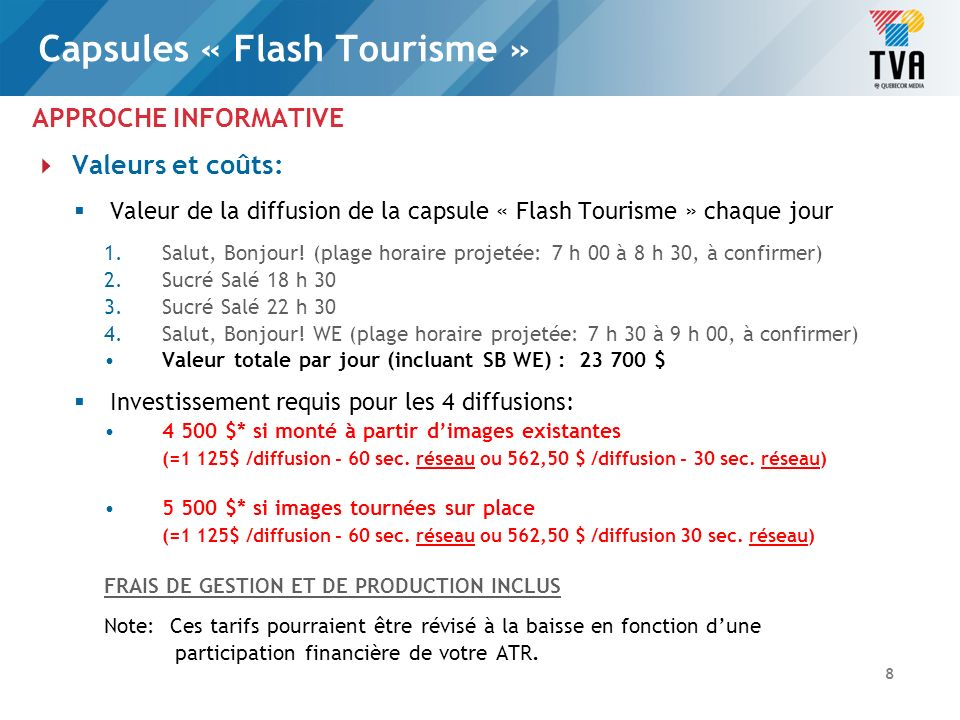 Capsules « Flash Tourisme »
