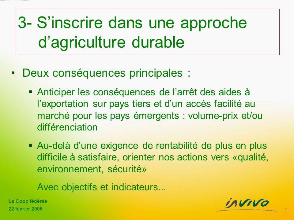 3- S'inscrire dans une approche d'agriculture durable