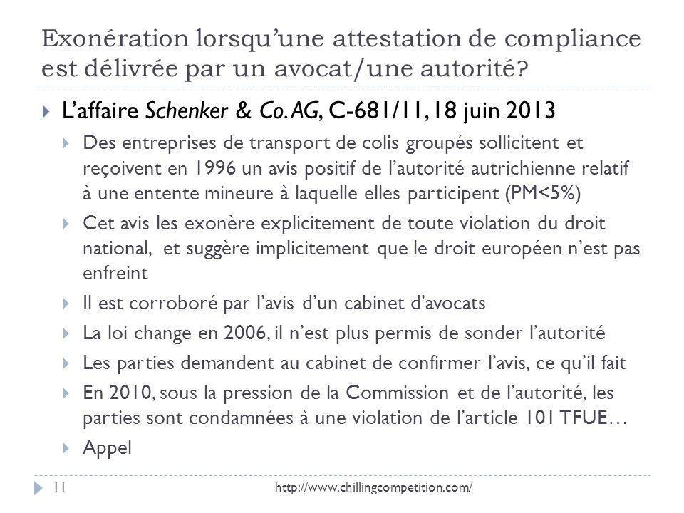 L'affaire Schenker & Co. AG, C-681/11, 18 juin 2013