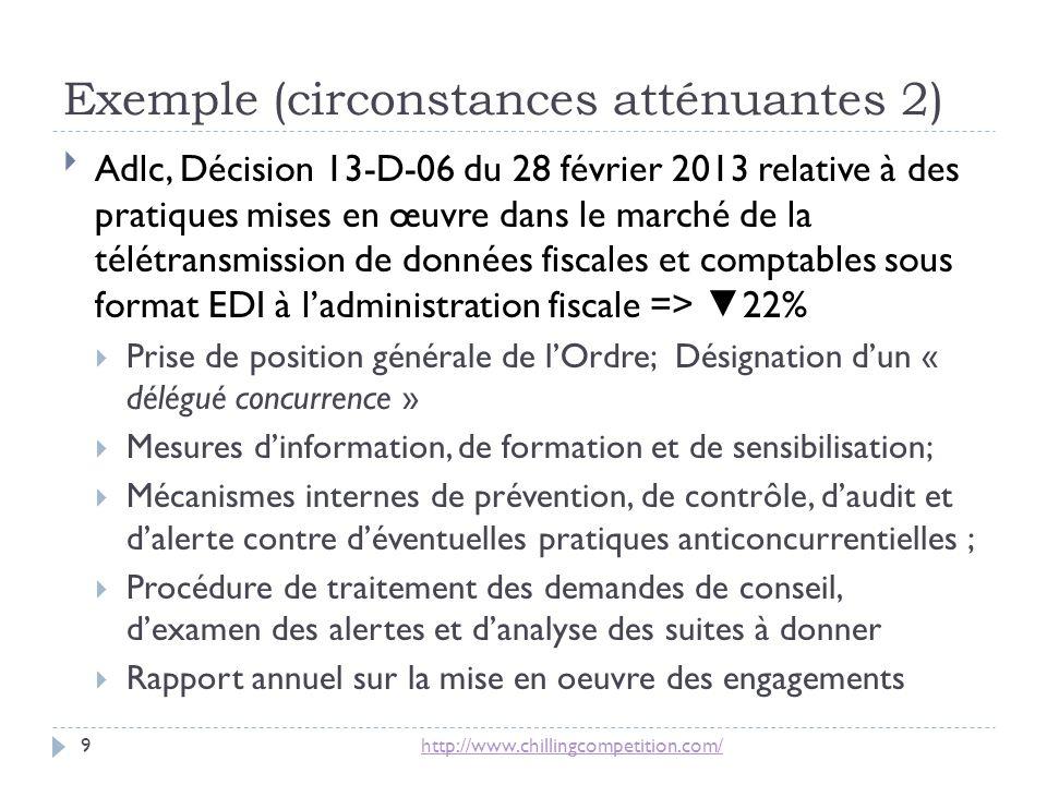 Exemple (circonstances atténuantes 2)