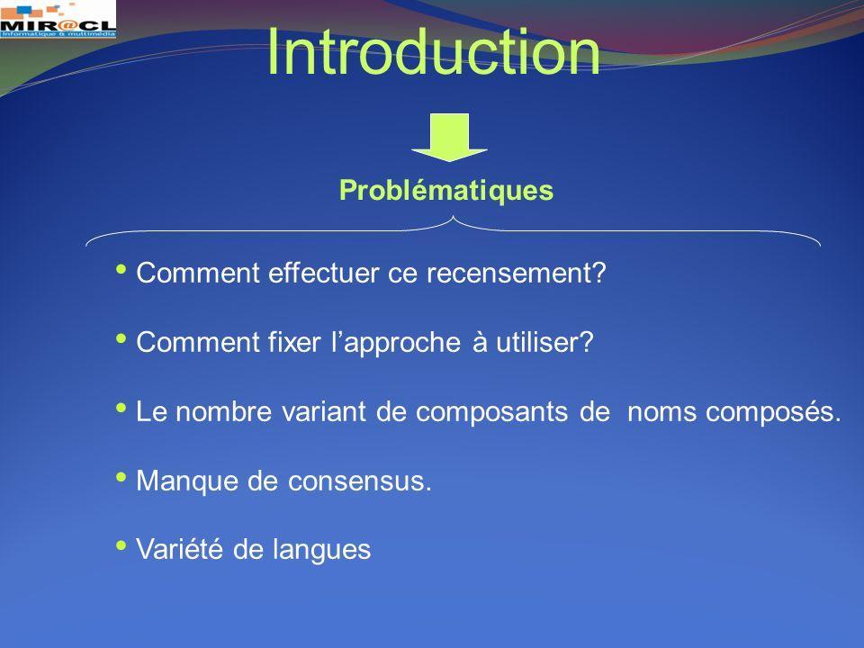 Introduction Problématiques Comment effectuer ce recensement