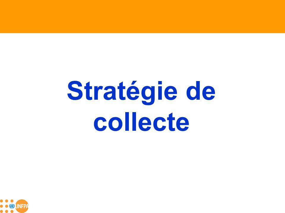 Stratégie de collecte