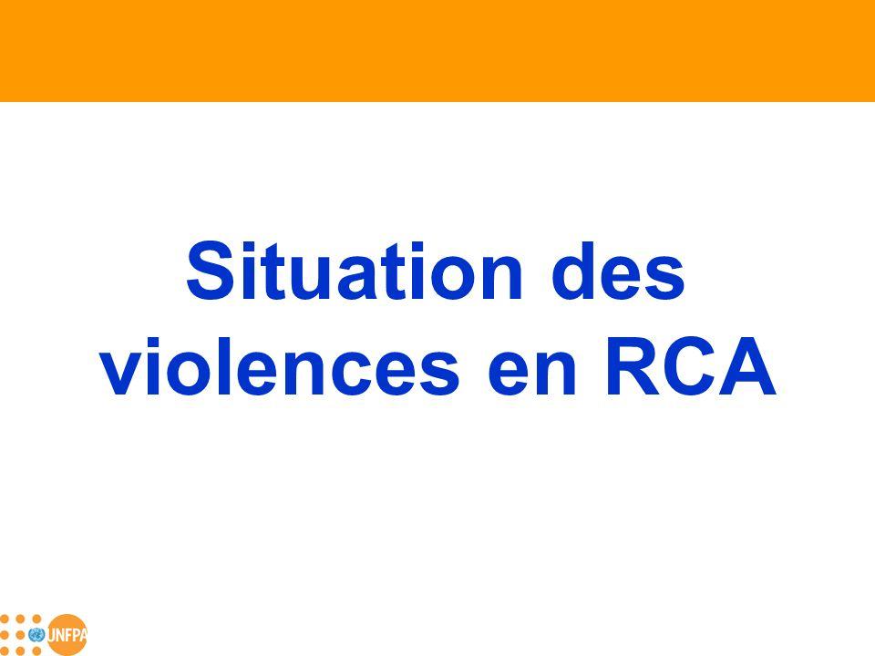 Situation des violences en RCA