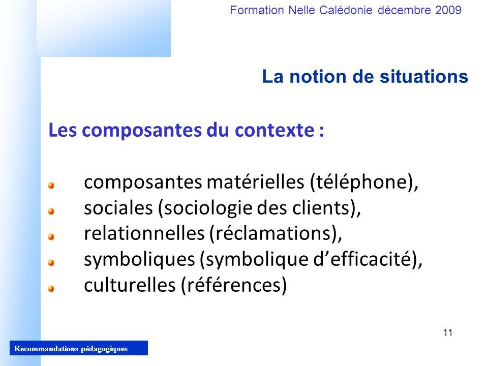 Les composantes du contexte : composantes matérielles (téléphone),