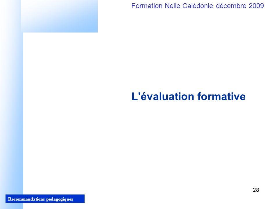 L évaluation formative