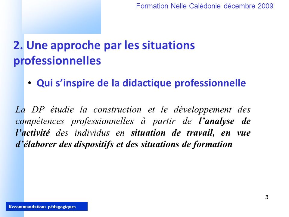 2. Une approche par les situations professionnelles