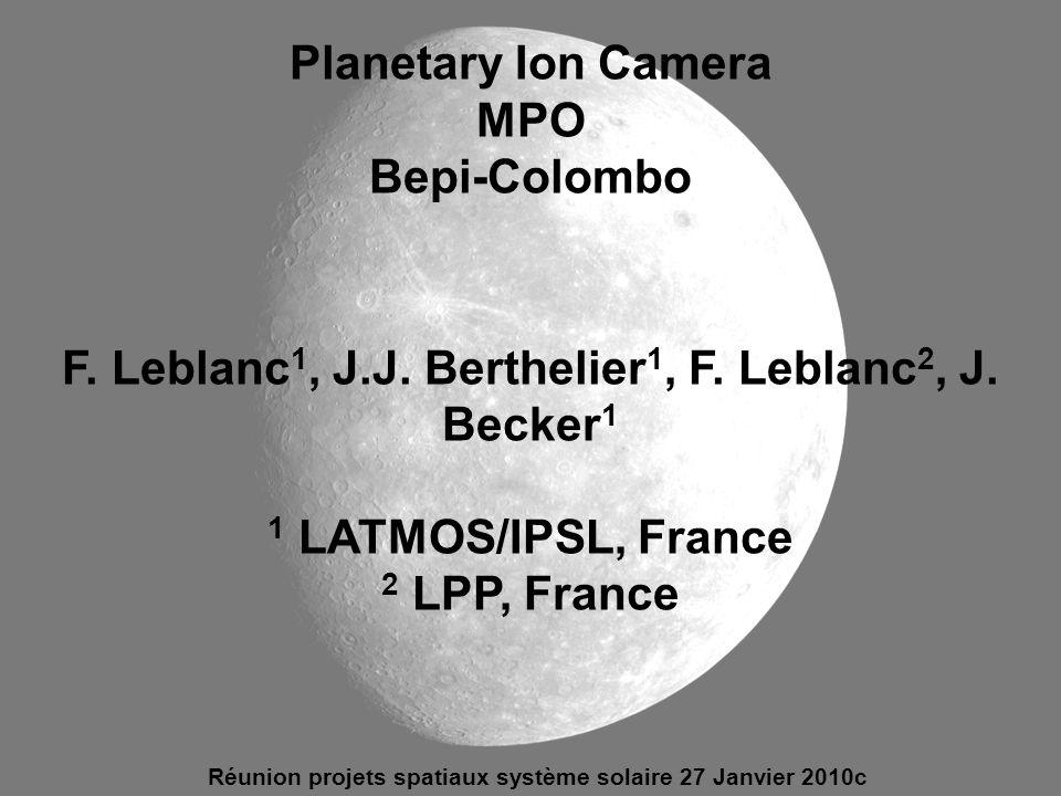 F. Leblanc1, J.J. Berthelier1, F. Leblanc2, J. Becker1