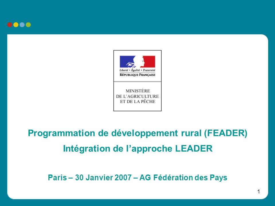 Programmation de développement rural (FEADER)