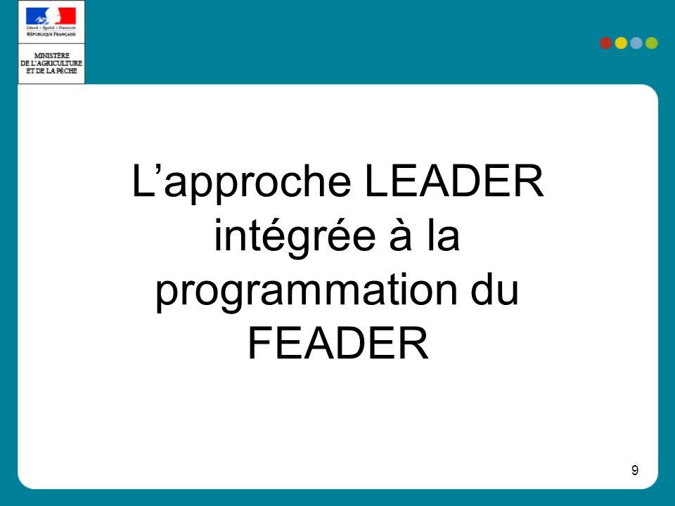 L'approche LEADER intégrée à la programmation du FEADER