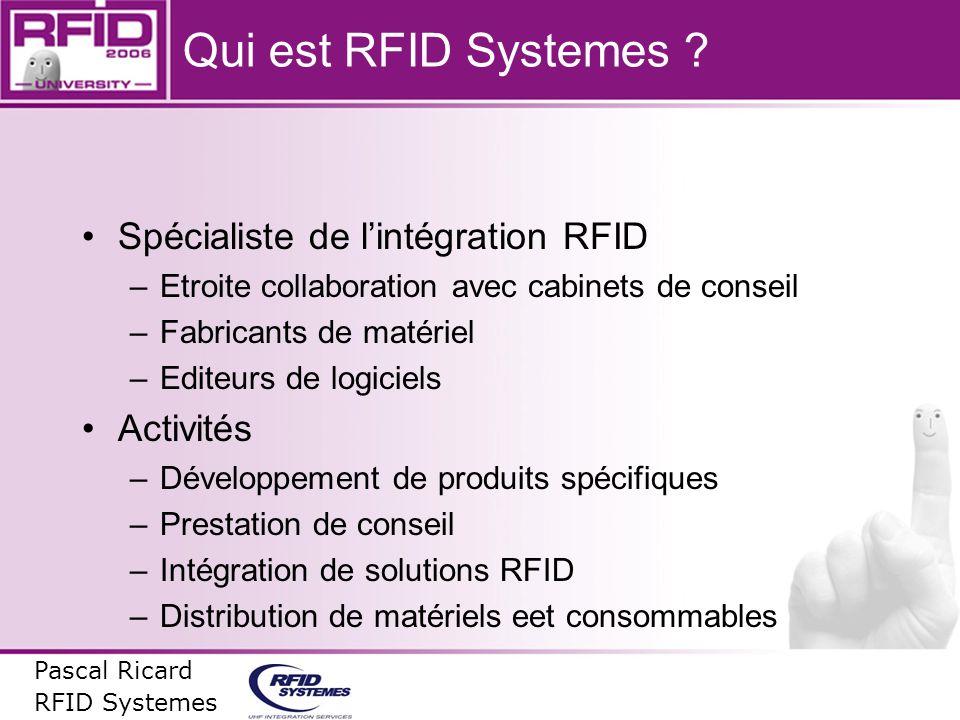 Qui est RFID Systemes Spécialiste de l'intégration RFID Activités